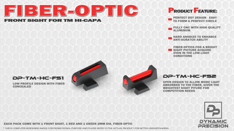 gallery/dp fiber optic front sight for hi-capa